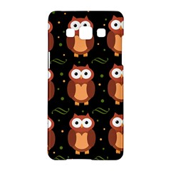 Halloween brown owls  Samsung Galaxy A5 Hardshell Case