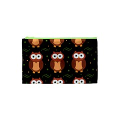 Halloween brown owls  Cosmetic Bag (XS)