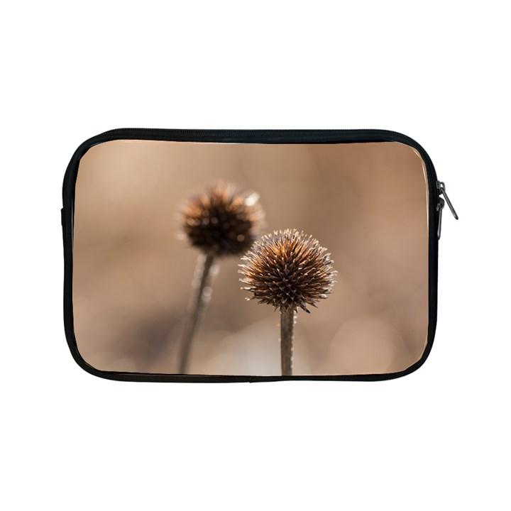 Withered Globe Thistle In Autumn Macro Apple iPad Mini Zipper Cases