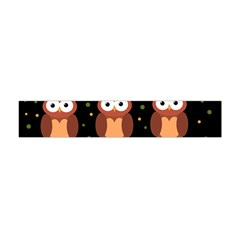 Halloween brown owls  Flano Scarf (Mini)