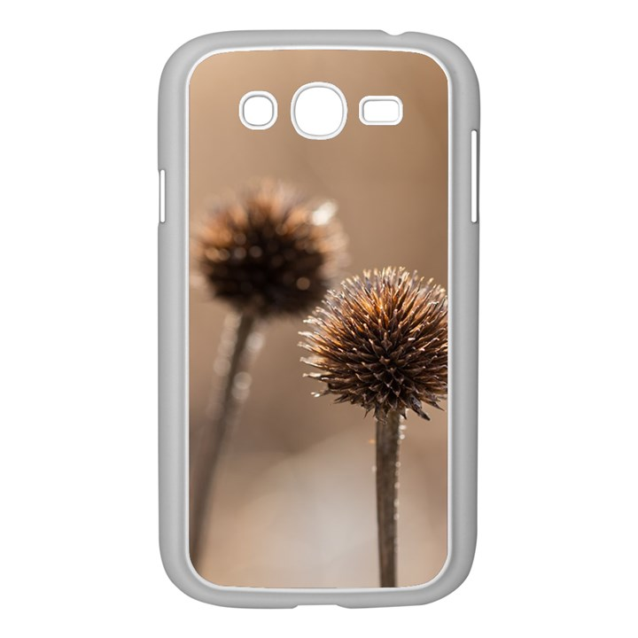 Withered Globe Thistle In Autumn Macro Samsung Galaxy Grand DUOS I9082 Case (White)