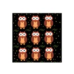 Halloween brown owls  Satin Bandana Scarf