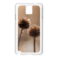 Withered Globe Thistle In Autumn Macro Samsung Galaxy Note 3 N9005 Case (white)