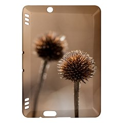 Withered Globe Thistle In Autumn Macro Kindle Fire Hdx Hardshell Case by wsfcow