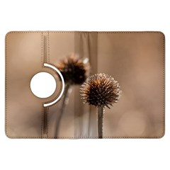 Withered Globe Thistle In Autumn Macro Kindle Fire Hdx Flip 360 Case by wsfcow