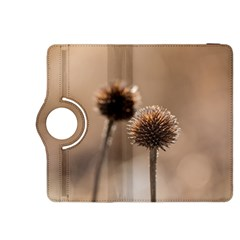 Withered Globe Thistle In Autumn Macro Kindle Fire Hdx 8 9  Flip 360 Case by wsfcow