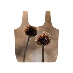 Withered Globe Thistle In Autumn Macro Full Print Recycle Bags (s)  by wsfcow