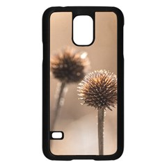 Withered Globe Thistle In Autumn Macro Samsung Galaxy S5 Case (black) by wsfcow
