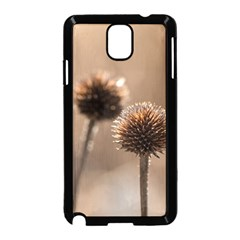 Withered Globe Thistle In Autumn Macro Samsung Galaxy Note 3 Neo Hardshell Case (black)