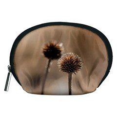 Withered Globe Thistle In Autumn Macro Accessory Pouches (medium)