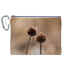 Withered Globe Thistle In Autumn Macro Canvas Cosmetic Bag (xl) by wsfcow