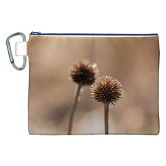 Withered Globe Thistle In Autumn Macro Canvas Cosmetic Bag (xxl) by wsfcow
