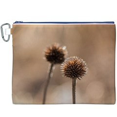 Withered Globe Thistle In Autumn Macro Canvas Cosmetic Bag (xxxl) by wsfcow