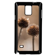 Withered Globe Thistle In Autumn Macro Samsung Galaxy Note 4 Case (black) by wsfcow