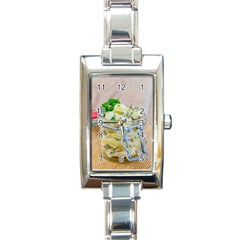 Potato Salad In A Jar On Wooden Rectangle Italian Charm Watch by wsfcow