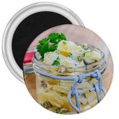 Potato Salad In A Jar On Wooden 3  Magnets by wsfcow