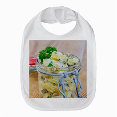 Potato Salad In A Jar On Wooden Bib