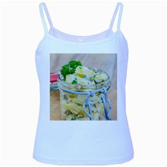 Potato salad in a jar on wooden Baby Blue Spaghetti Tank
