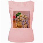 Potato salad in a jar on wooden Women s Pink Tank Top Front
