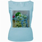 Potato salad in a jar on wooden Women s Baby Blue Tank Top Front