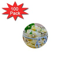 Potato Salad In A Jar On Wooden 1  Mini Buttons (100 Pack)  by wsfcow