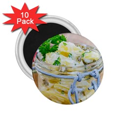 Potato Salad In A Jar On Wooden 2 25  Magnets (10 Pack)  by wsfcow