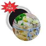 Potato salad in a jar on wooden 2.25  Magnets (10 pack)  Front
