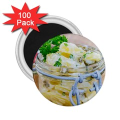 Potato salad in a jar on wooden 2.25  Magnets (100 pack)