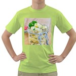 Potato salad in a jar on wooden Green T-Shirt Front