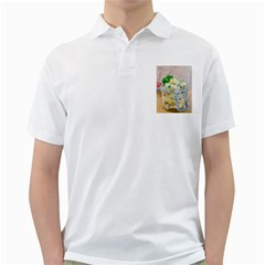 Potato salad in a jar on wooden Golf Shirts