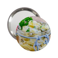 Potato Salad In A Jar On Wooden 2 25  Handbag Mirrors by wsfcow