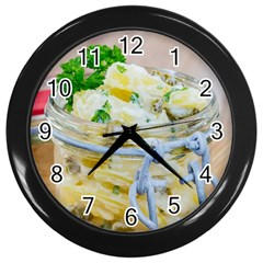 Potato Salad In A Jar On Wooden Wall Clocks (black)