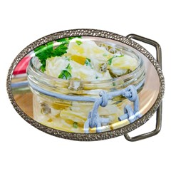Potato Salad In A Jar On Wooden Belt Buckles by wsfcow