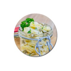 Potato Salad In A Jar On Wooden Magnet 3  (round) by wsfcow