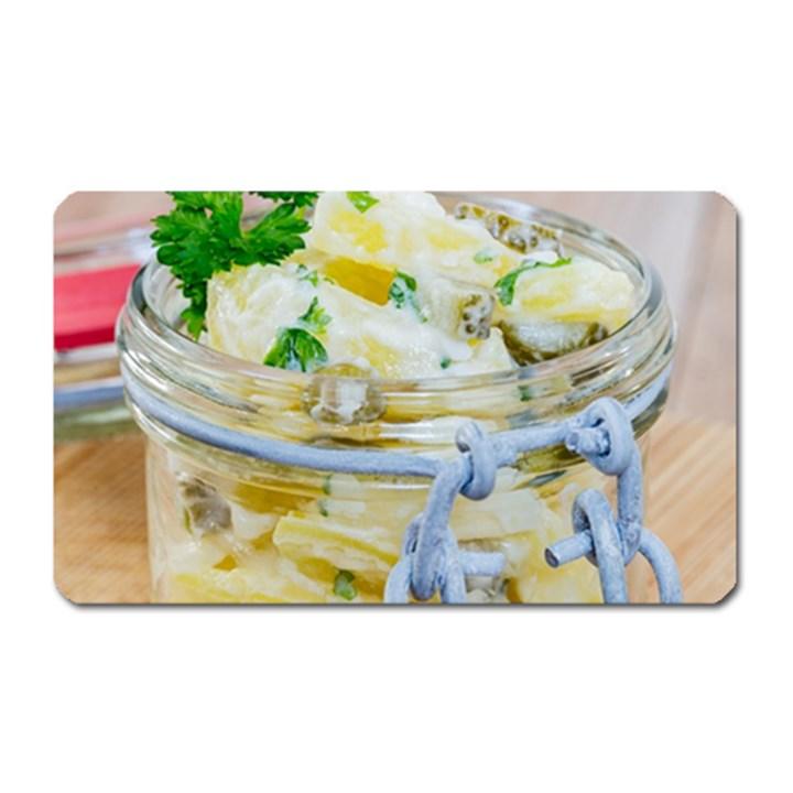 Potato salad in a jar on wooden Magnet (Rectangular)