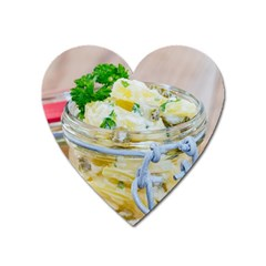 Potato Salad In A Jar On Wooden Heart Magnet by wsfcow