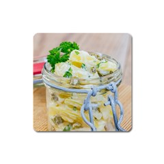 Potato Salad In A Jar On Wooden Square Magnet by wsfcow