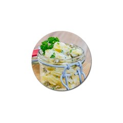 Potato Salad In A Jar On Wooden Golf Ball Marker by wsfcow