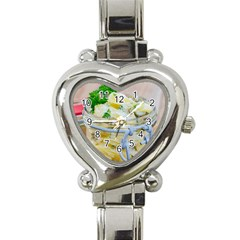 Potato salad in a jar on wooden Heart Italian Charm Watch