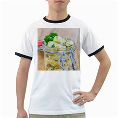 Potato Salad In A Jar On Wooden Ringer T Shirts by wsfcow