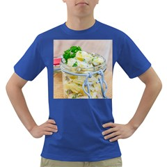 Potato salad in a jar on wooden Dark T-Shirt