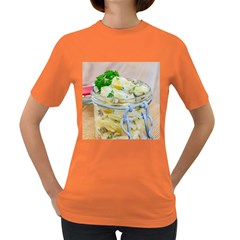 Potato salad in a jar on wooden Women s Dark T-Shirt