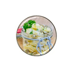 Potato salad in a jar on wooden Hat Clip Ball Marker