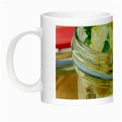 Potato salad in a jar on wooden Night Luminous Mugs