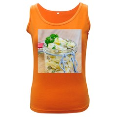 Potato Salad In A Jar On Wooden Women s Dark Tank Top