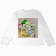 Potato Salad In A Jar On Wooden Kids Long Sleeve T Shirts by wsfcow
