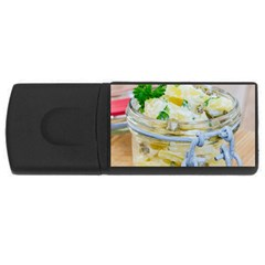 Potato Salad In A Jar On Wooden Usb Flash Drive Rectangular (4 Gb)  by wsfcow
