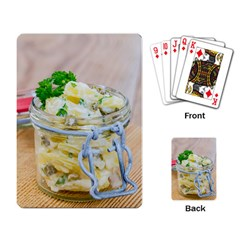 Potato Salad In A Jar On Wooden Playing Card by wsfcow