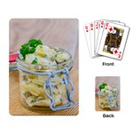 Potato salad in a jar on wooden Playing Card Back