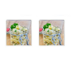 Potato Salad In A Jar On Wooden Cufflinks (square) by wsfcow